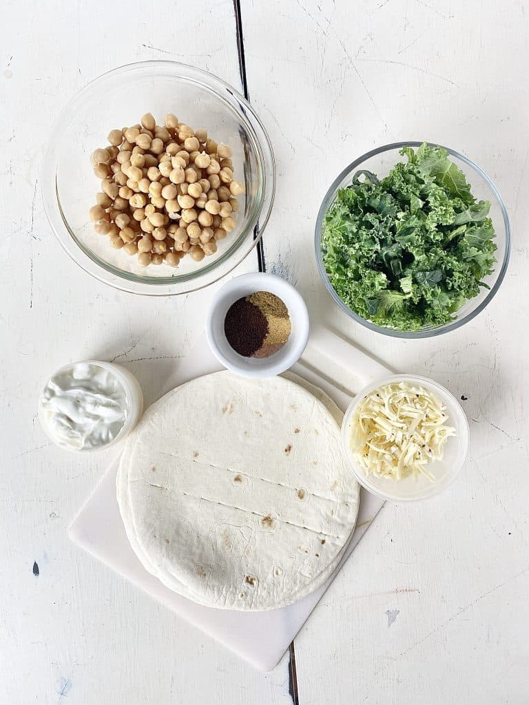 southwest chickpea quesadillas