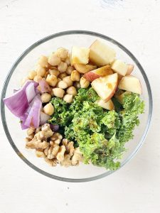 winter chickpea salad