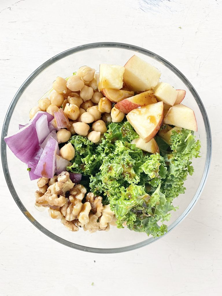 winter chickpea salad