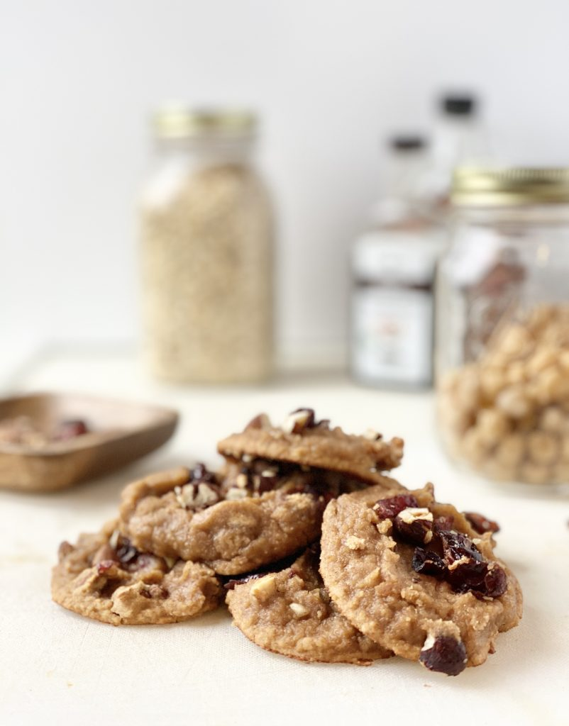 chickpea cookies with applesauce